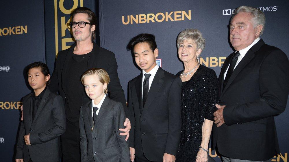 Pax Jolie-Pitt, Brad Pitt, Shiloh Jolie-Pitt, Maddox Jolie-Pitt, Jane Pitt, William Pitt