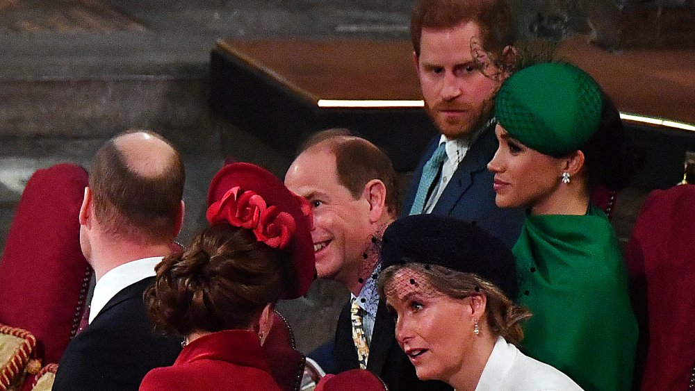 Príncipe William, Kate Middleton, Meghan Markle y el Príncipe Harry