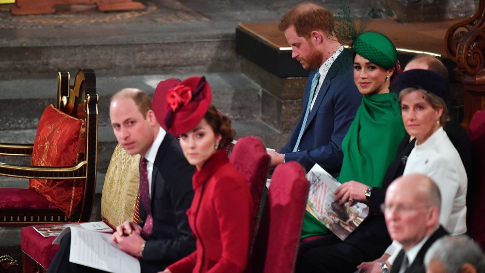 Príncipe William, Kate Middleton, Príncipe Harry, Meghan Markle, Príncipe Edward, Sophie