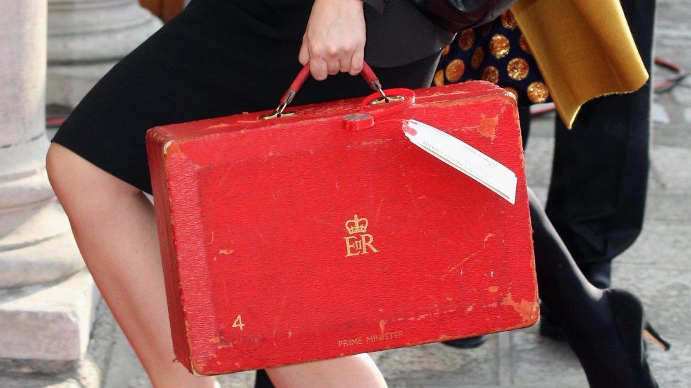 Una caja roja