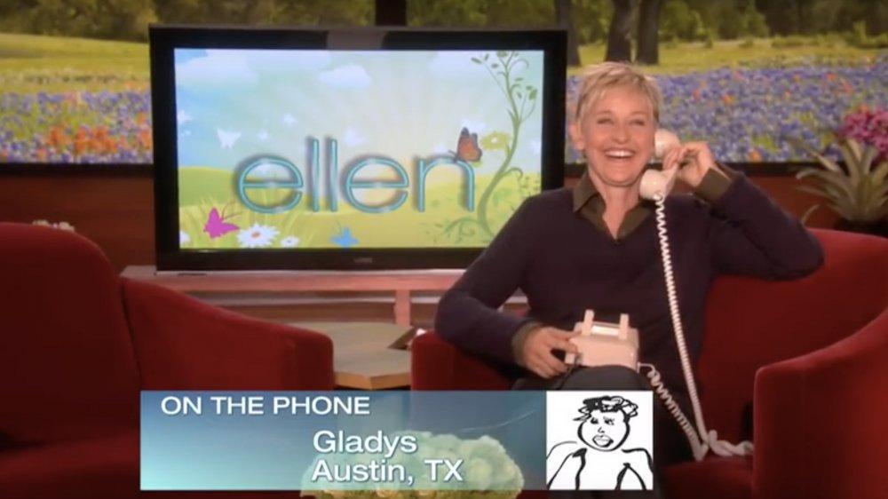 Gladys Hardy llamando al show de Ellen DeGeneres
