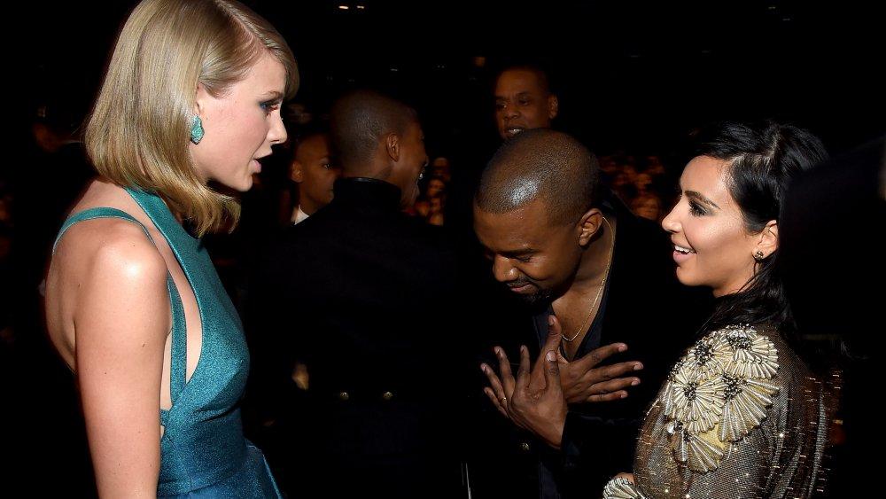 Taylor Swift, Kanye West y Kim Kardashian