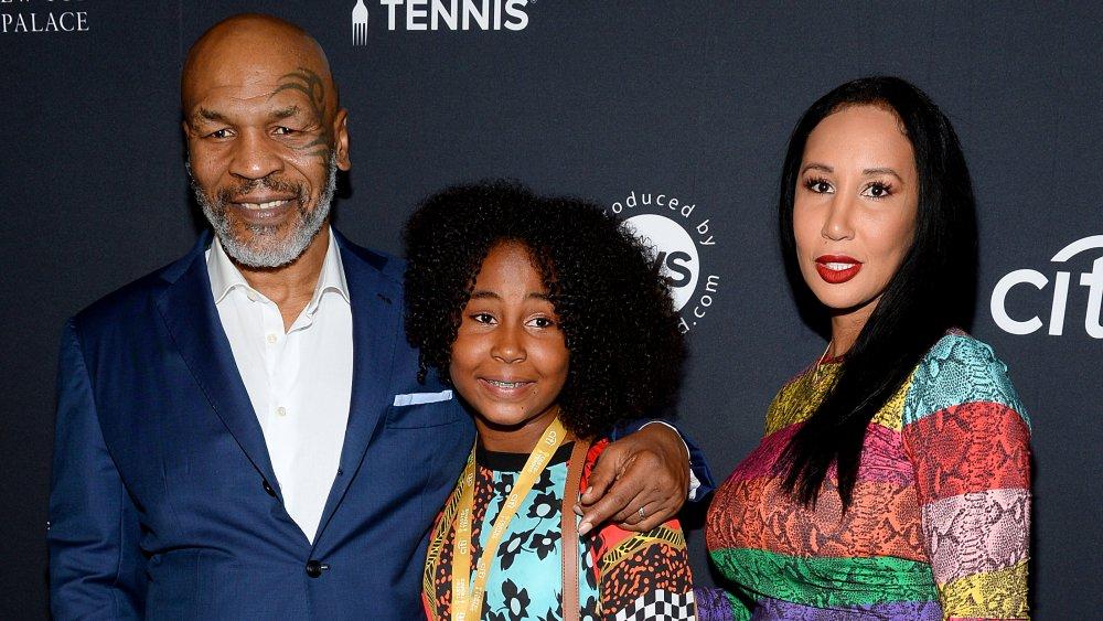 Mike Tyson y Lakiha Spicer con su hija Milan