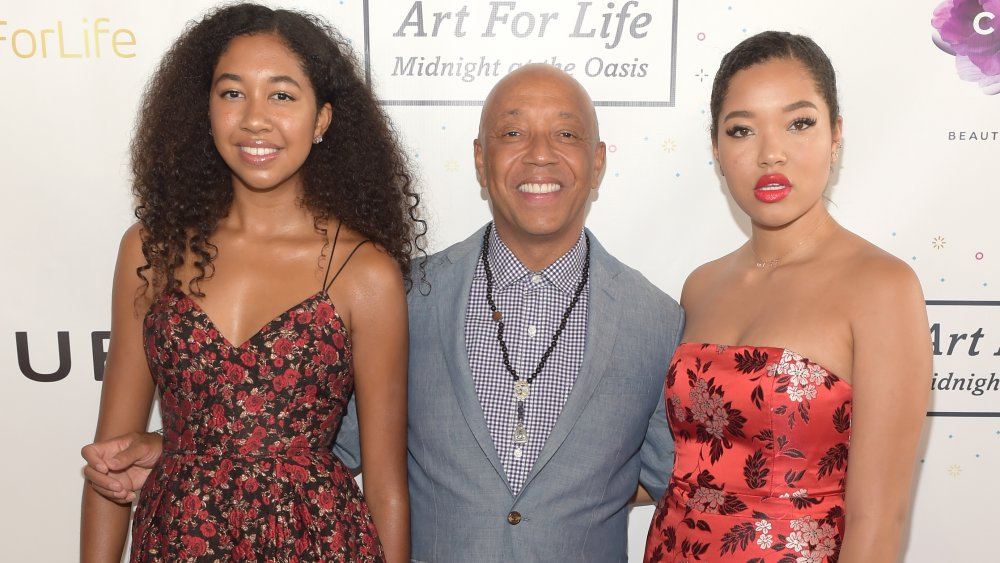 Aoki Lee Simmons, Russell Simmons, Ming Lee Simmons