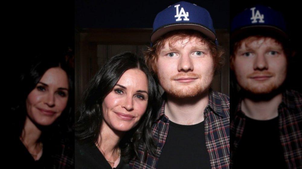 Courteney Cox y Ed Sheeran