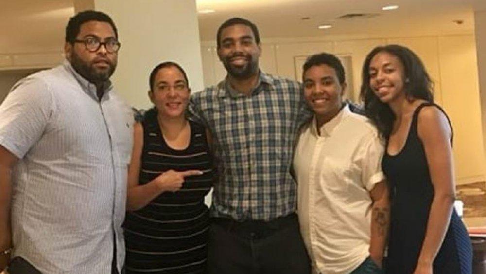 Amir Tyson y su familia