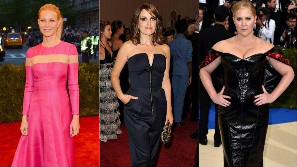 Gwyneth Paltrow, Tina Fey, Amy Schumer asistiendo a la Gala Met