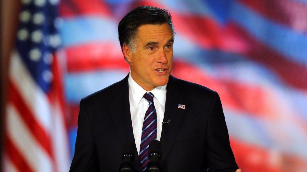 Mitt Romney dando un discurso