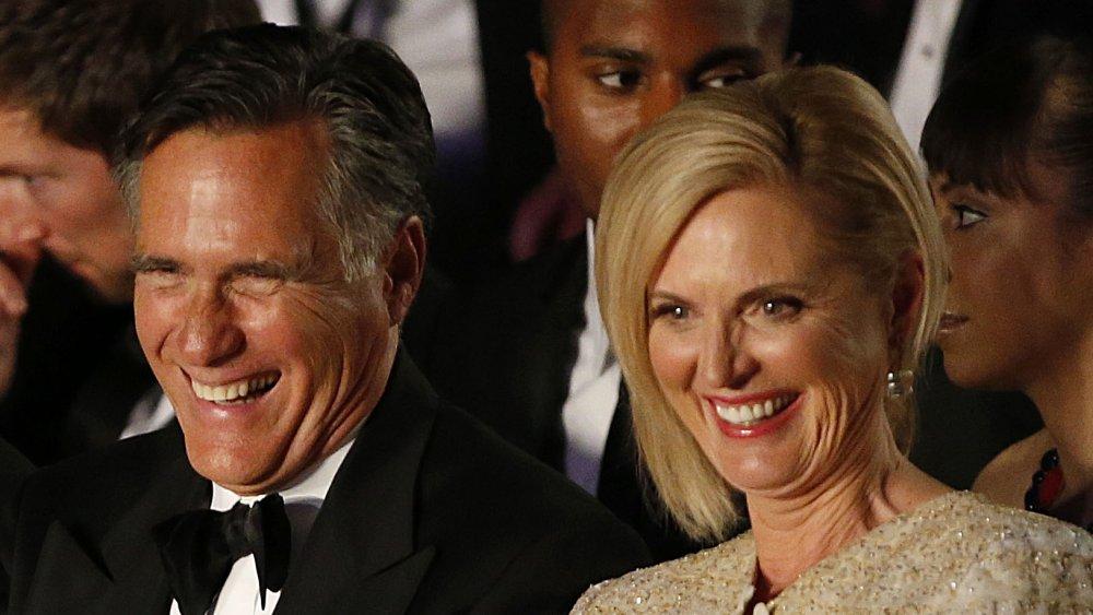 Mitt Romney y Ann Romney riendo