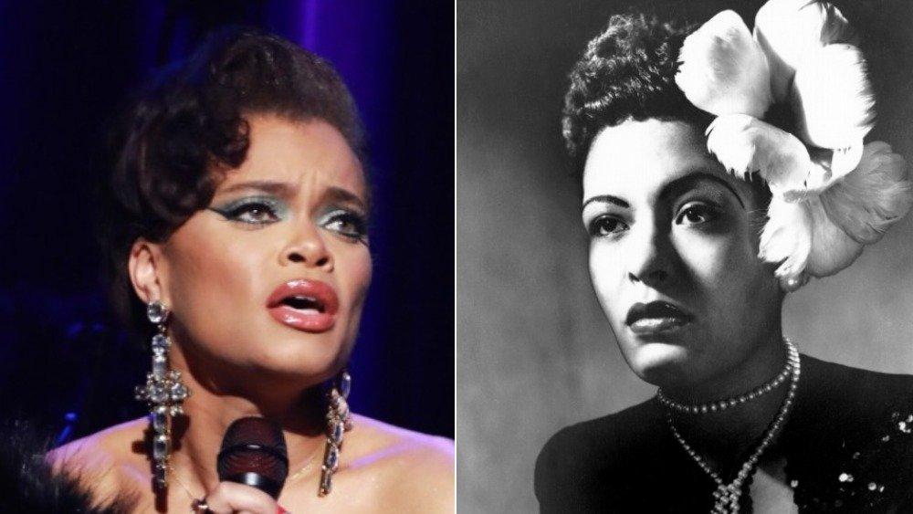 Andra Day, imagen lado a lado de Billie Holiday