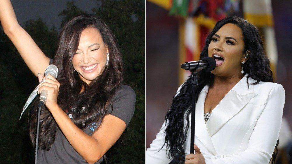 Naya Rivera y Demi Lovato