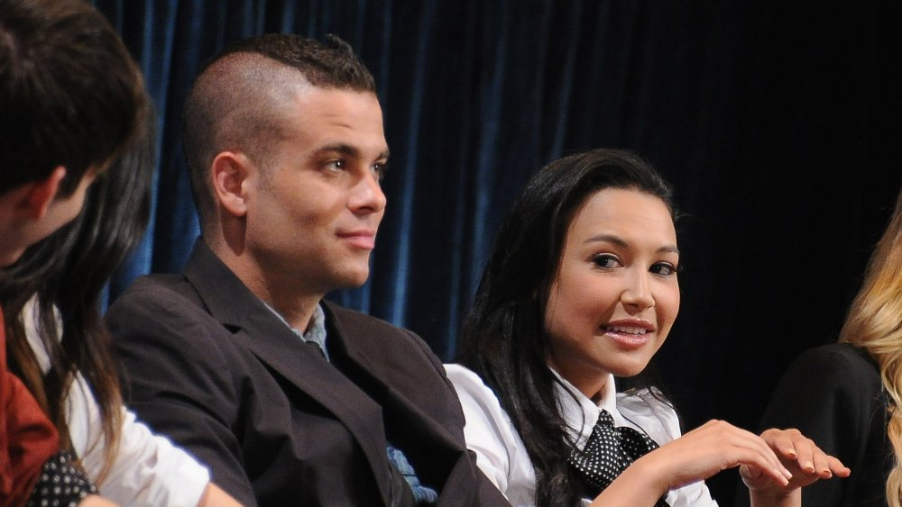 Mark Salling y Naya Rivera en el evento Paleyfest 2011 de Paley Center for Media en honor a Glee