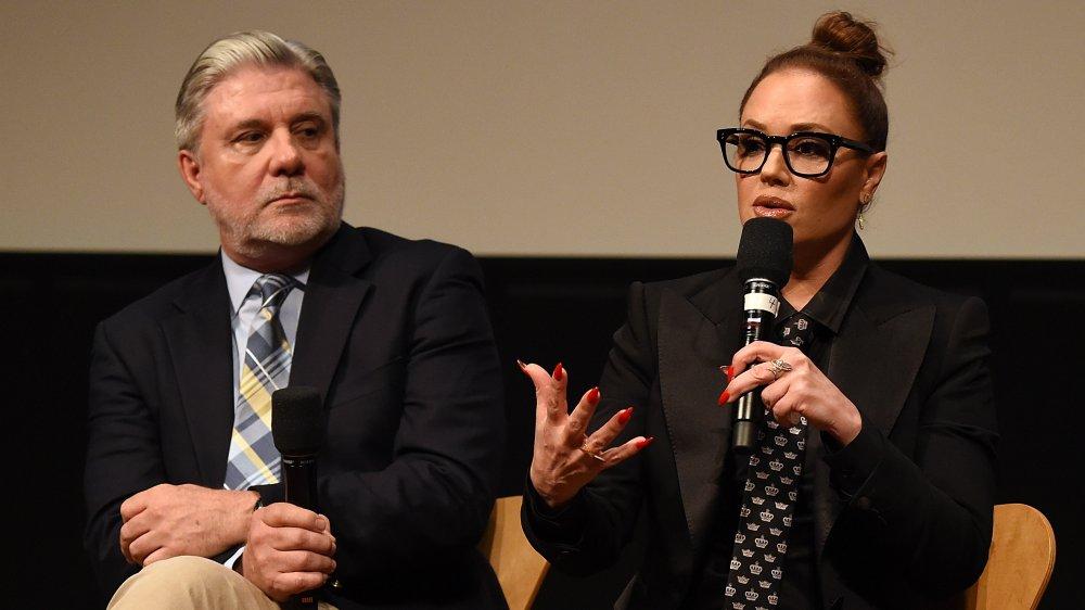 Mike Rinder y Leah Remini en una proyección de Leah Remini: Scientology y las secuelas