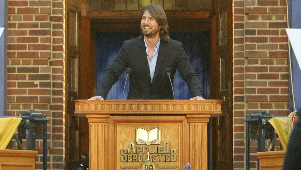 Tom Cruise en la apertura de un centro de Scientology en St. Louis