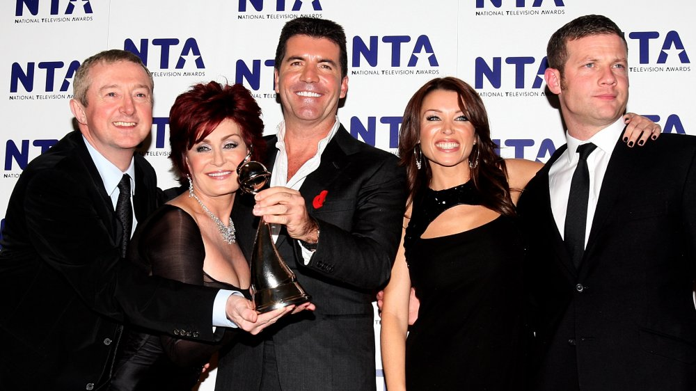 Dermot O'Leary, Sharon Osbourne, Simon Cowell, Dannii Minogue y Luis Walsh en los National Television Awards