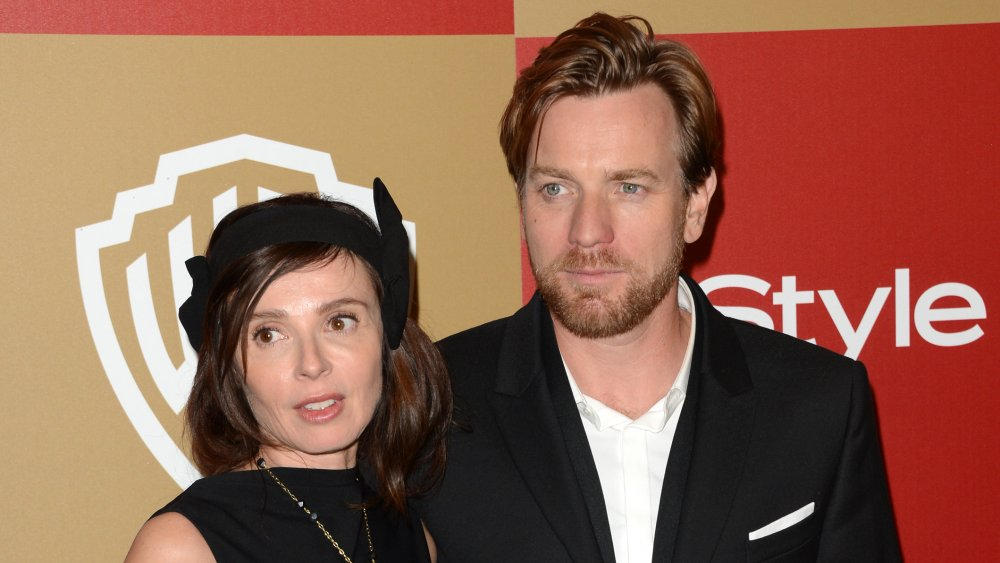 Eve Mavrakis and Ewan McGregor at a Golden Globes after party in 2013