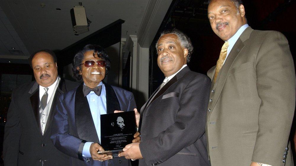 Martin Luther King, III, James Brown, Al Sharpton, Jesse Jackson en la Cena de Gala de los Guardianes del Sueño
