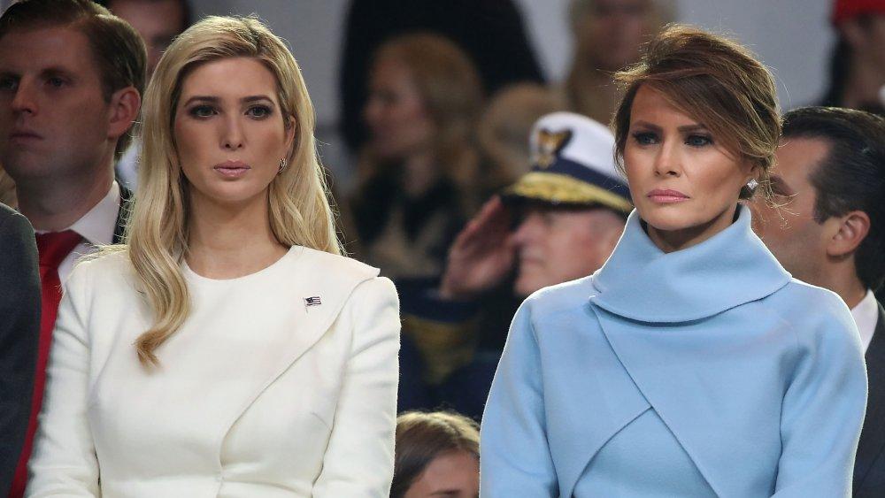 Ivanka Trump y Melania Trump en la inauguración de Donald Trump