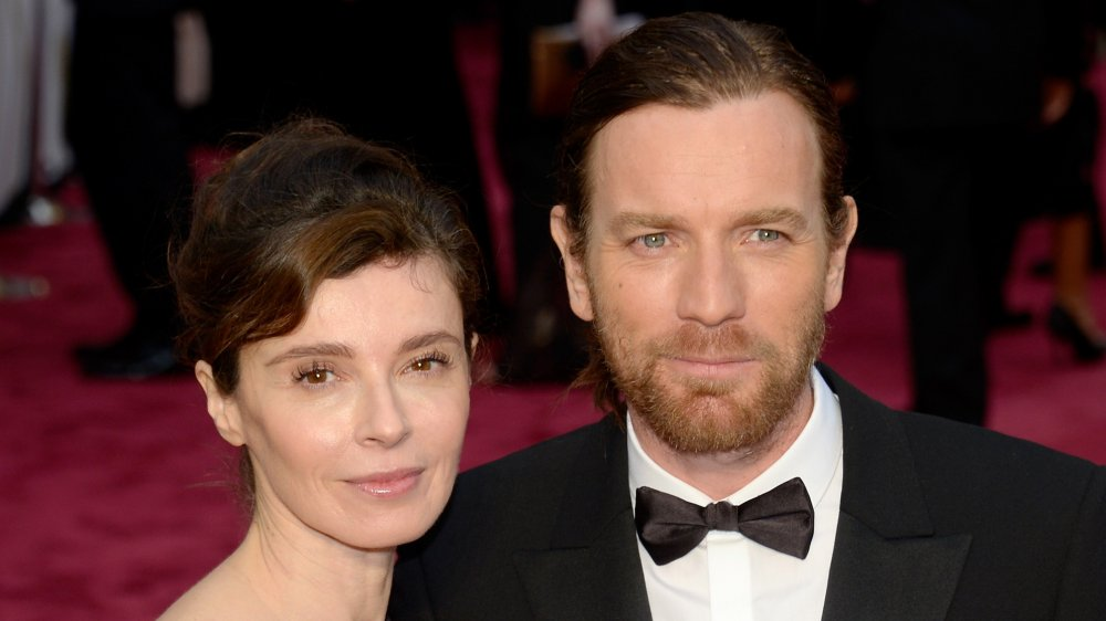 Eve Mavrakis and Ewan McGregor attending the 2014 Oscars