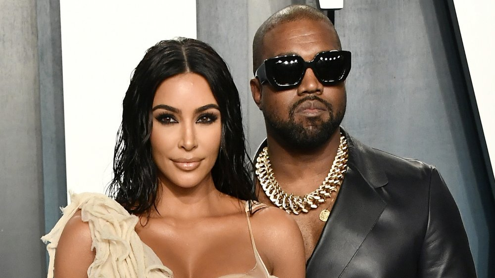 Kim Kardashian West y Kanye West asistieron a la Fiesta Oscar Vanity Fair 2020
