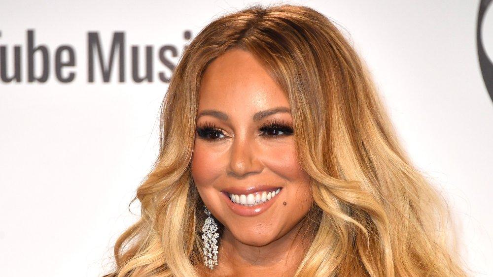 Mariah Carey posa en la sala de prensa durante los American Music Awards 2018