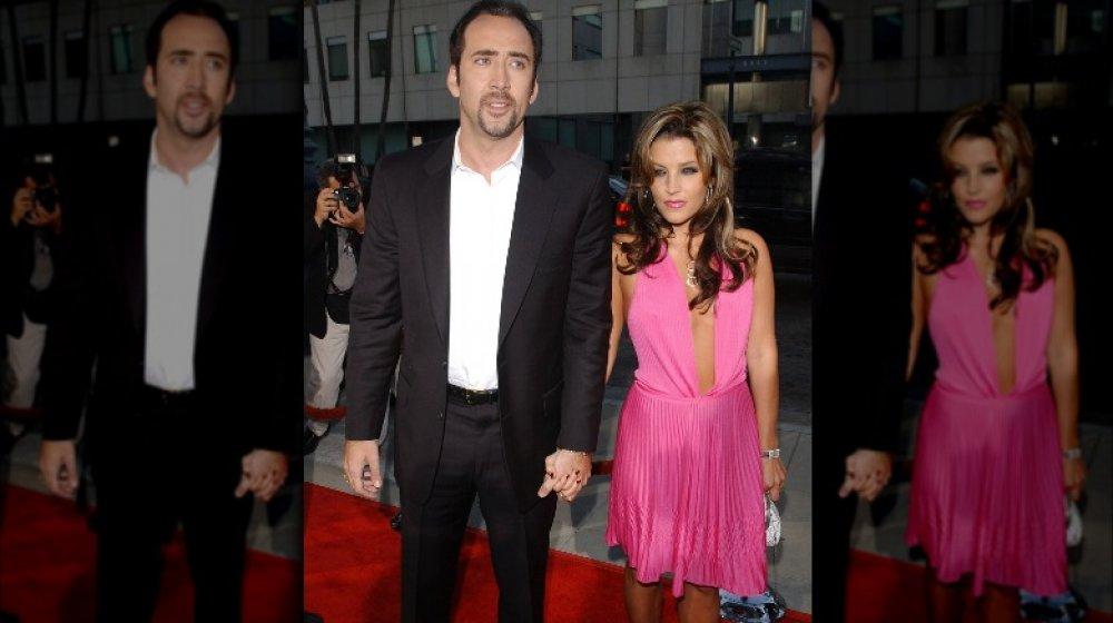 Nicolas Cage y Lisa Marie Presley juntos en la alfombra roja