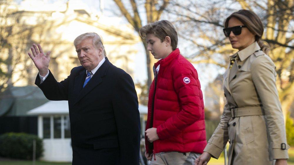 Melania, Barron y Donald Trump