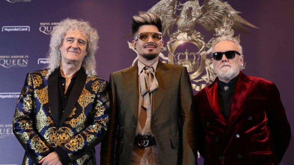 Brian May, Adam Lambert y Roger Taylor de Queen