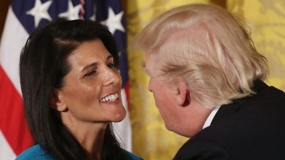 Nikki Haley y Donald Trump
