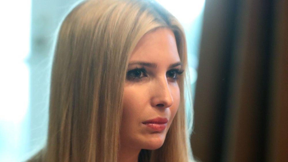 Una imagen de perfil de Ivanka Trump con una expresión seria