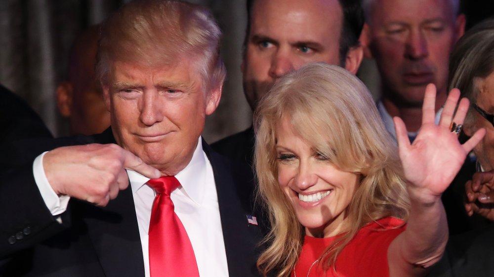 Donald Trump y Kellyanne Conway