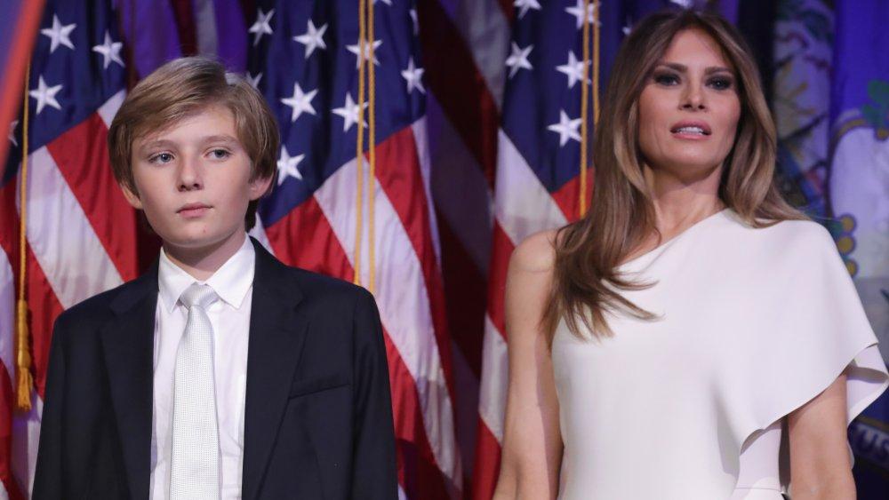 Barron y Melania Trump