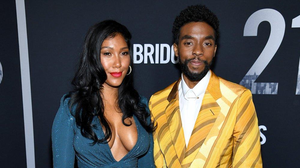 Chadwick Boseman y Taylor Simone Ledward