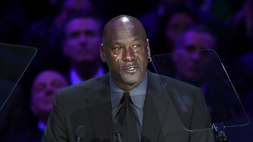 Michael Jordan en el memorial de Kobe Bryant en 2020