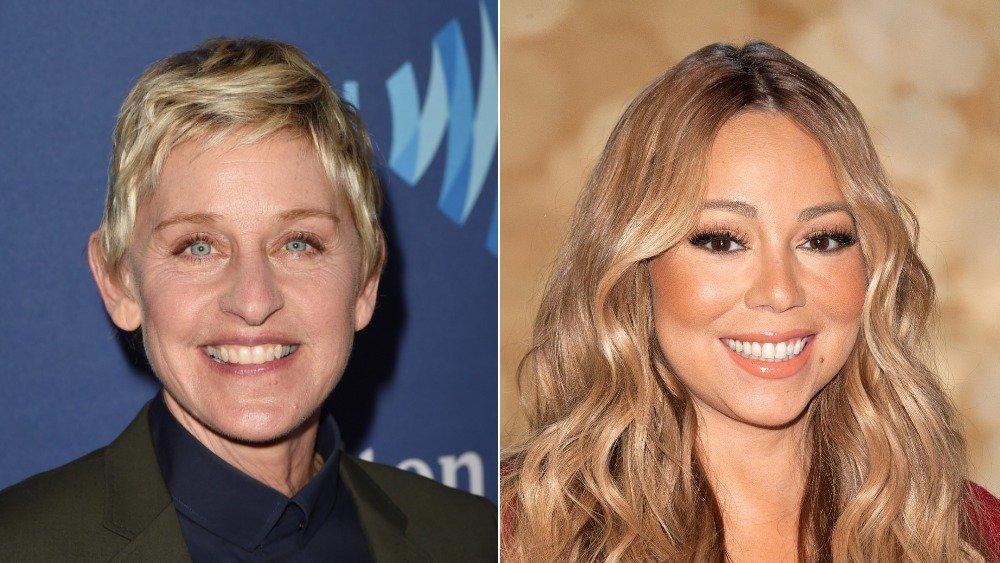Presentadora de programas de entrevistas Ellen DeGeneres; Cantante Mariah Carey