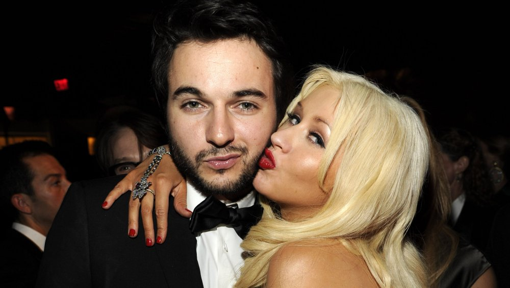 Matthew Rutler and Christina Aguilera at the 68th Annual Warner Bros and InStyle Golden Globes After Party