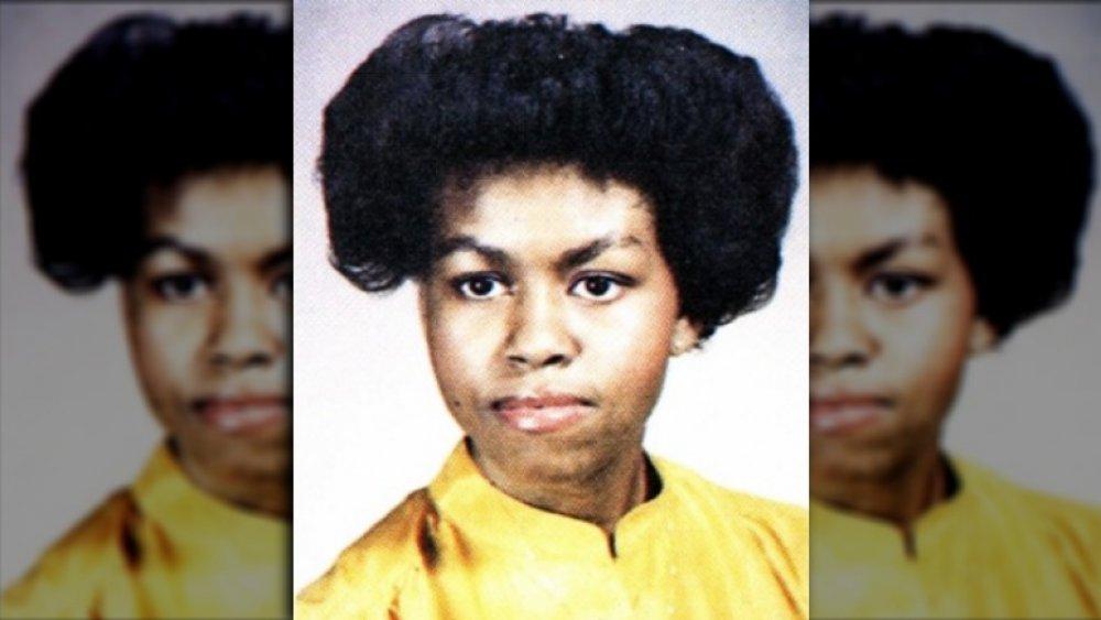 Foto del anuario de Michelle Obama de 1981