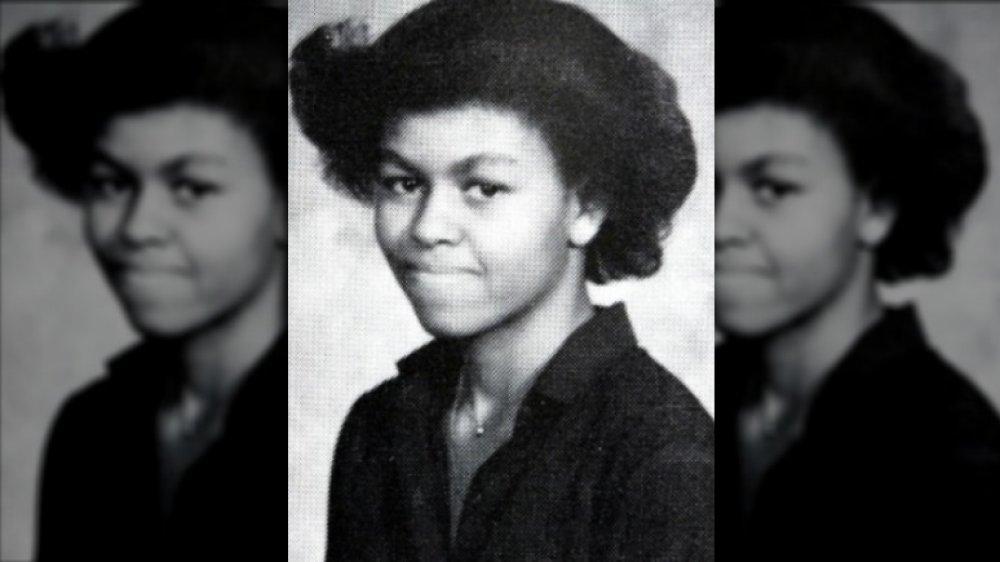 Foto del anuario de Michelle Obama 1980