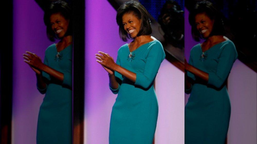 Michelle Obama en la Convención Nacional Demócrata en 2008