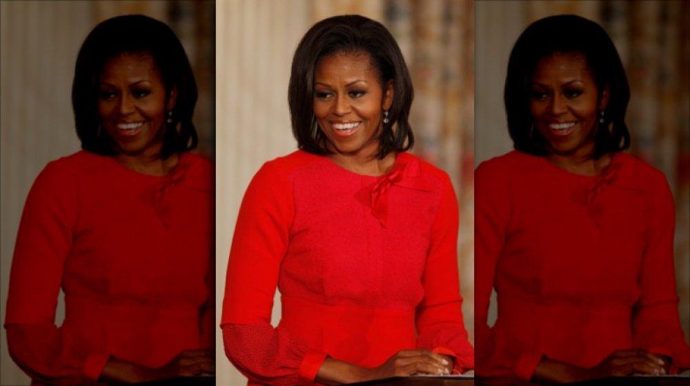 Michelle Obama hablando en la Casa Blanca en 2011
