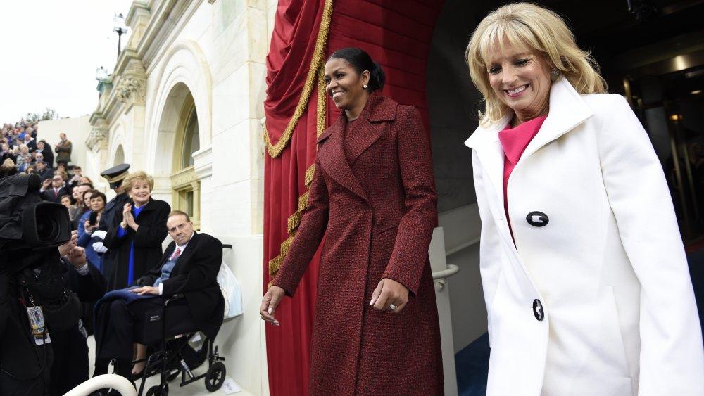 Michelle Obama y Jill Biden en la inauguración de Donald Trump