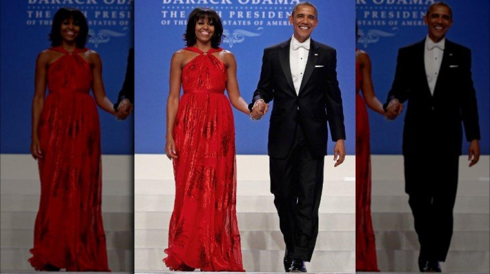 Michelle Obama y Barack Obama en el segundo baile inaugural de Barack