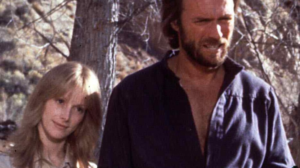 Sondra Locke y Clint Eastwood filmando The Outlaw Josey Wales