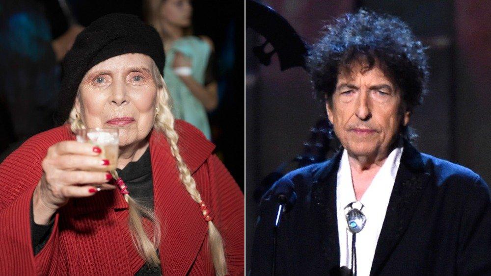 Joni Mitchell y Bob Dylan