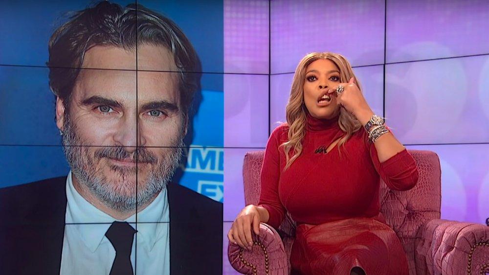 Wendy Williams en su programa burlándose de Joaquin Phoenix