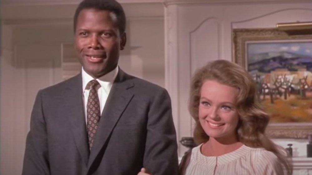 Sidney Poitier y Katharine Houghton en Guess Who's Coming to Dinner
