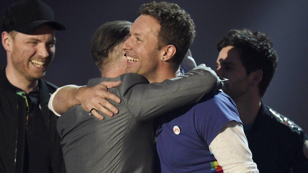 Simon Pegg; Chris Martin