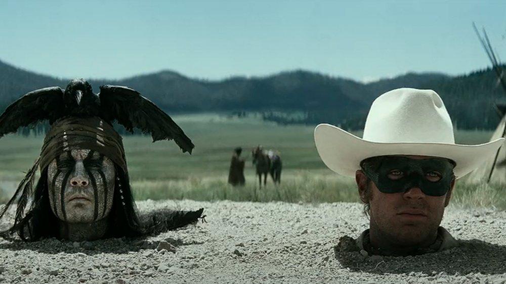 Johnny Depp y Armie Hammer en una escena de The Lone Ranger