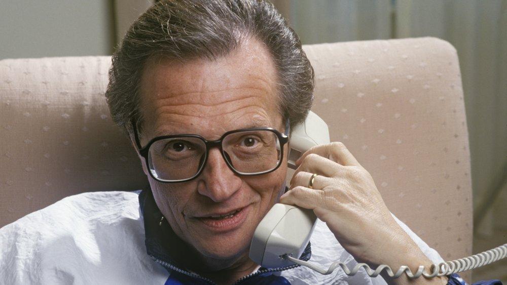 Larry King en un hotel de Beverly Hills en 1990