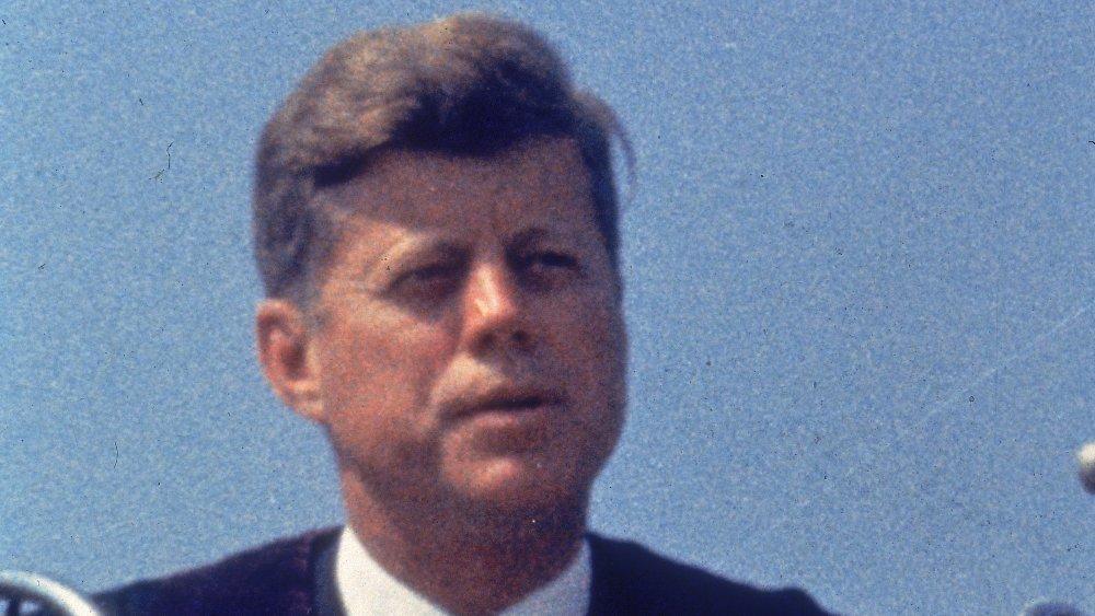 John F. Kennedy en su toma de posesión como 35o presidente de los Estados Unidos